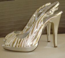 DELICIOUS Zebra Print High Heel Sling