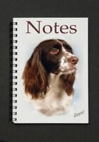 English Springer Spaniel Dog Notebook/Notepad with small image on every page