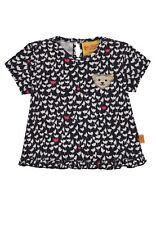 Steiff T-Shirt Tulpen allover mit Rüsche Girl Hello Spring Sommer 6913041 Neu
