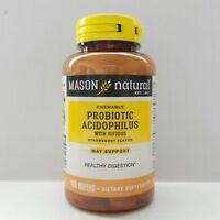 100 Wafers Chewable Probiotic Acidophilus w Bifidus Restore Intentines Bacteria