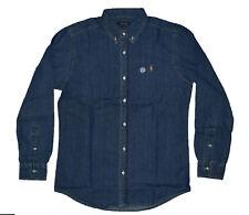 Mens Polo Ralph Lauren Denim Slim Fit Long Sleeve Shirts -