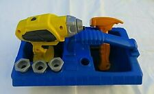Fisher Price Drillin' Action Set Toy ~Caddy~ Hammer~ Drill~ Nails~ Screws~