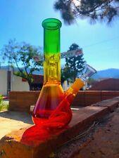 8-9'' Hookah Glass Water Pipe Bong Rasta Style W Ice Catcher USA Fast Shipping