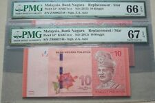 (PL) NEW SALES: RM 10 ZA & ZB 0002748 PMG 66-67EPQ SAME LOW NUMBER REPLACEMENT