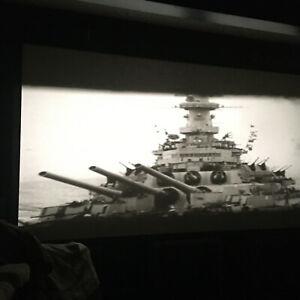 "Vintage 1945' 16mm 6"" Reel Film Bombing USS Franklin Yanks Okinawa Victory Japan"