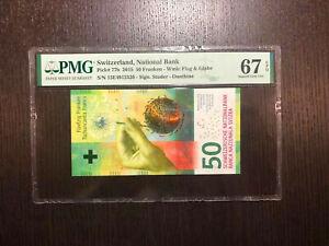 Switzerland National Bank Pick 77b 2015 50 Franken PMG 67 EPQ (2)