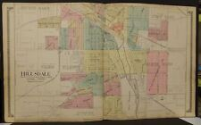 Michigan Hillsdale County Map Hillsdale  2-Double Pages 1916    Y9#83