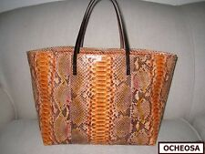 NWOT Authentic FENDI Orange PYTHON Tote Bag ! EXOTIC Luxury!