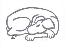 JACQUELINE DITT - Dog - Grey A3 sign.ltd.Original Druck Grafik Hund Hunde Bild