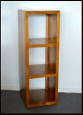 Fully assembled Manly solid Timber 3 cube Bookcase shelf unit Teak