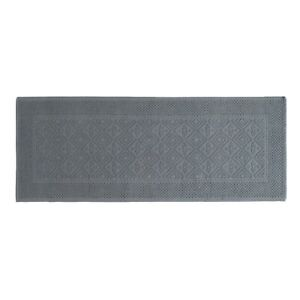"""World Market Gray Woven Bath Mat 24"""" x 60"""" 100% cotton New with tags"""