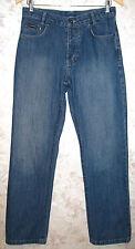Men's YVES SAINT LAURENT Jeans YSL Indigo Color Button Fly Straight Leg W30 L31