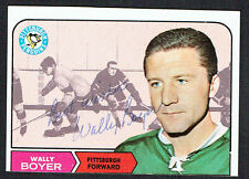 Wally Boyer #105 signed autograph auto 1968 Topps Hockey Trading Card