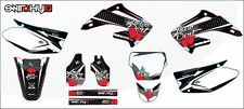 KIT ADESIVI GRAFICHE LOVE DIRT BLACK HONDA CRF 450 2002 2003 2004