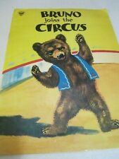 BRUNO JOINS The CIRCUS Very Old Children's Story Book Sweden VG++