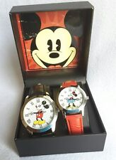 New Disney Mickey Watch & Minnie Mouse HIS & HERS SET in gift box MK1421MN14F6