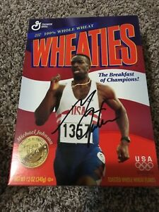 Michael Johnson Signed Autographed Wheaties Box USA Olympic Gold Medal