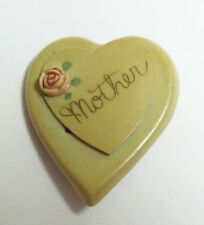 Vintage WWII Celluloid MOTHER Sweetheart Pin