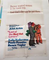"""LAST OF THE RED HOT LOVERS  Original Movie Poster One Sheet 27"""" X 41"""" Alan Arkin"""