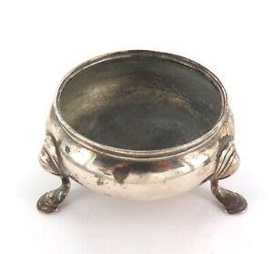 .1700s ENGLISH STERLING SILVER SALT / CONDIMENT BOWL.