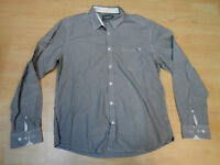 Original Esprit Langarm Hemd in L weiß grau gestreift