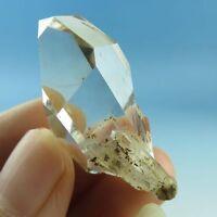 Natural Sparkling Herkimer Diamond Quartz Crystal point,healing-dq0505