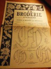 La broderie Lyonnaise 1963 n°1211 broderie motif monogramme voir photoSS