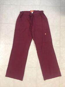 Koi Orange Standard Wine Scrub Pants Sz Small
