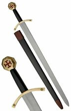 Templar Knight Crusade Sword with scabbard