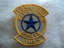 Somerset Bus Company N.J. Shoulder Patch Blue Star Route Transportation