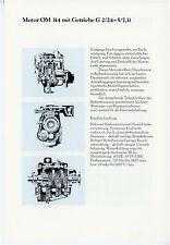 Prospekt 1978 Datenblatt Lkw Motor Mercedes OM314 Getriebe G 2/24-5/7,31 Europa