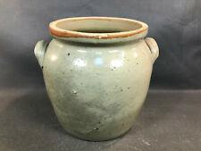 Ancien pot à graisse ou confit en grès vernissé ustensile de cuisine de campagne