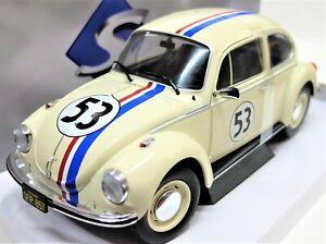 Model Car Scale 1/18 Herbie Beetle All Hatter Film solido Movie