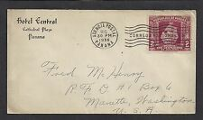 Panama 1936 Cover Sc. 280 Panama to Manette Washington USA