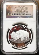 2014 Canada ~ The Bison ~ The Bull & His Mate ~ Ngc Pf69 ~ Free Shipping
