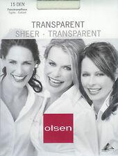 HAUCHFEIN  Strumpfhose, transparent - 15den, cremeweiss, 38-40  *olsen*