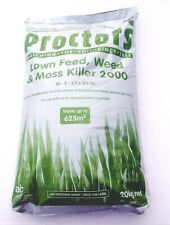 Proctors 3-in-1 Lawn Feed Weed and Moss Killer Fertiliser Grass 285sqm - 20kg