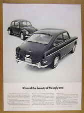 1966 VW Volkswagen Fastback & Beetle photo All the beauty of the ugly One vtg Ad