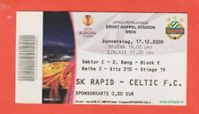 Orig.Ticket   Europa League  2009/10  SK RAPID WIEN - CELTIC GLASGOW  !!  SELTEN