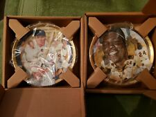 7 Hamilton Collection Limited Edition Baseball Collector Plates Nib