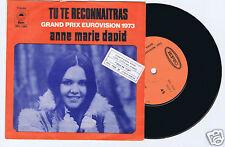 45 RPM SP (ISRAEL) ANNE MARIE DAVID EUROVISION 1973 TU TE RECONNAITRAS