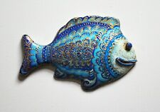 Decor fish wall, decorative fish painted by hand, fish wall hanging, hand painte