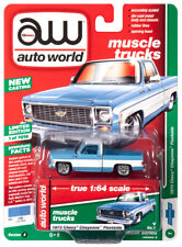 2019 AUTO WORLD 1:64 *PREMIUM 2B* Light Blue 1973 Chevy Cheyenne Fleetside *NIP*