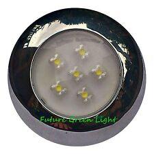 NARROWBOAT INTERIOR / EXTERIOR WATERPROOF WHITE 6 LED LIGHT 12V or 24V DC