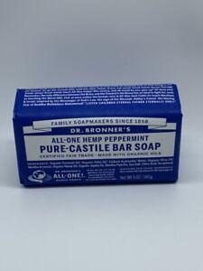 Dr Bronner's / Bronners Hemp Peppermint Pure-Castile Magic Bar Soap Organic 5oz