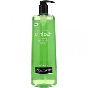 Neutrogena, Rainbath, Renewing Shower And Bath Gel, Pear And Green Tea, 16 Fl