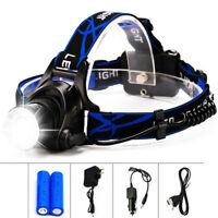 8000LM T6 LED 18650 Headlamp Headlight Flashlight ZOOM Head Light Lamp Torch