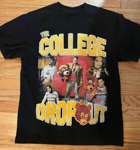 Vintage Kanye West The College Dropout Promo T-Shirt Sz Large Rap Tee Hip Hop