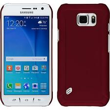Hardcase Samsung Galaxy S6 Active rubberized red Cover + protective foils