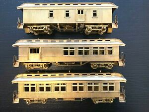 HO BRASS-PFM OLD-TIME HEAVYWEIGHT PASSENGER + BAGGAGE + COMBINATION SET